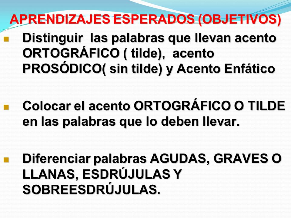 APRENDIZAJES ESPERADOS (OBJETIVOS)
