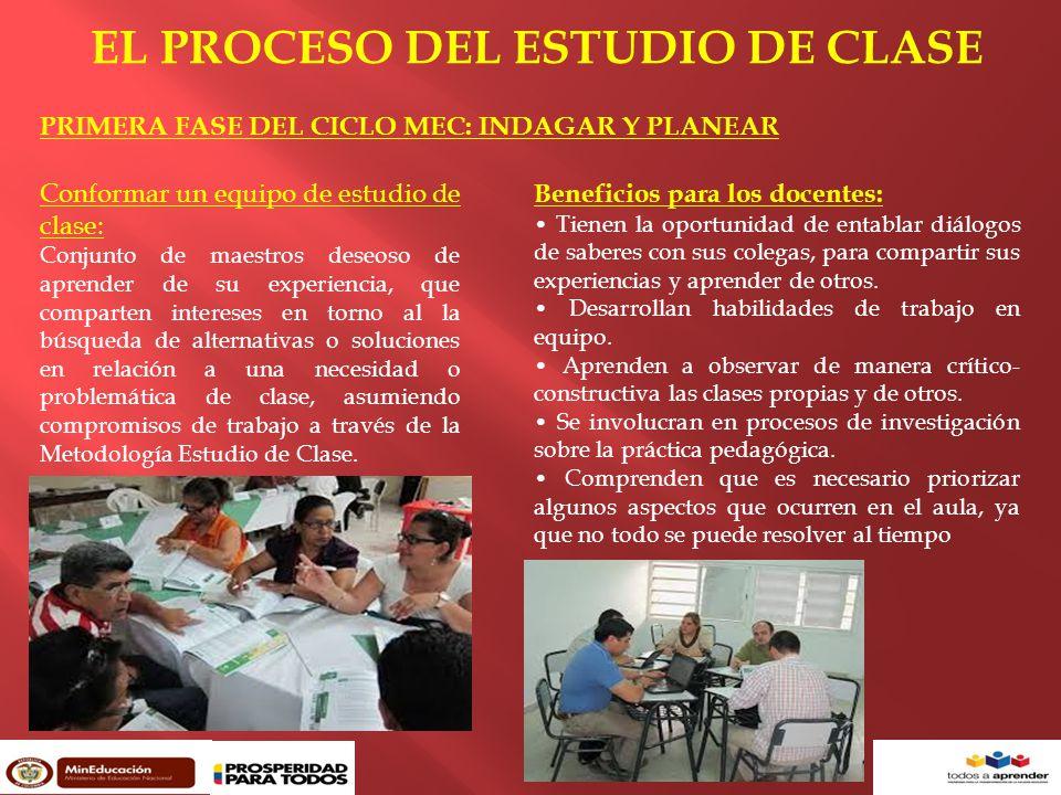 EL PROCESO DEL ESTUDIO DE CLASE