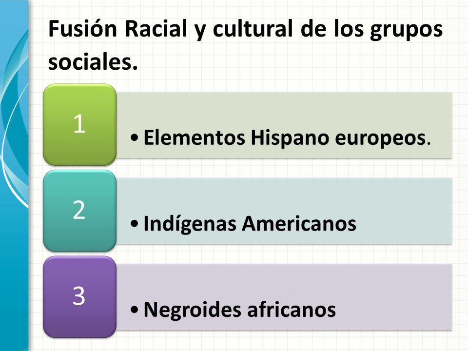 Fusión Racial y cultural de los grupos sociales.