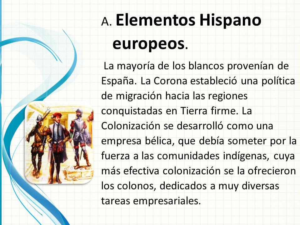 Elementos Hispano europeos.
