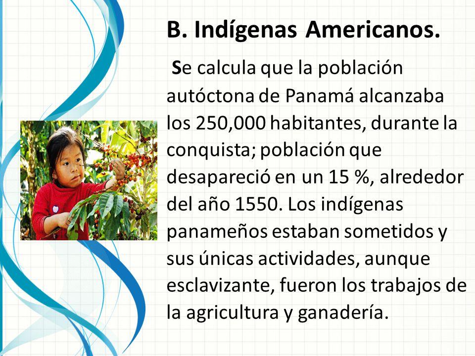 B. Indígenas Americanos.