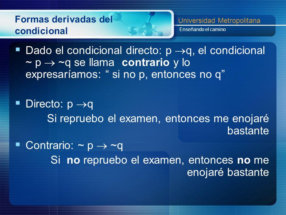 Formas derivadas del condicional