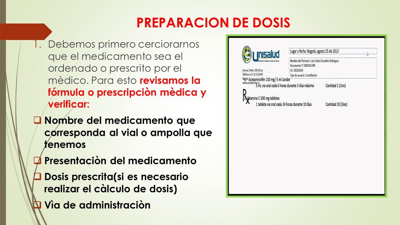 PREPARACION DE DOSIS