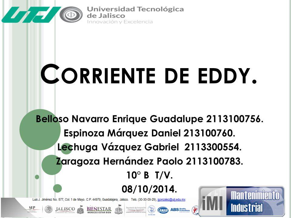 Corriente de eddy. Belloso Navarro Enrique Guadalupe 2113100756.