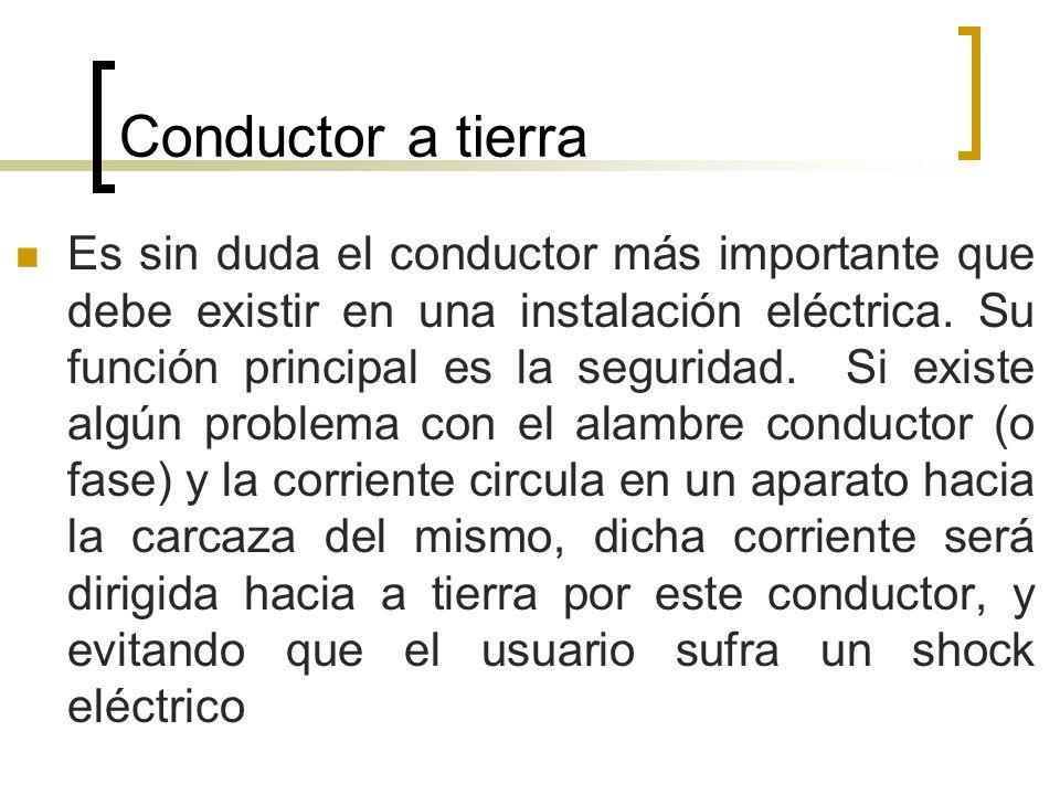 Conductor a tierra