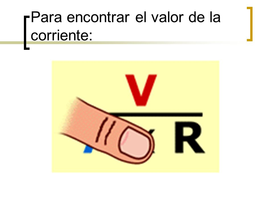 Para encontrar el valor de la corriente: