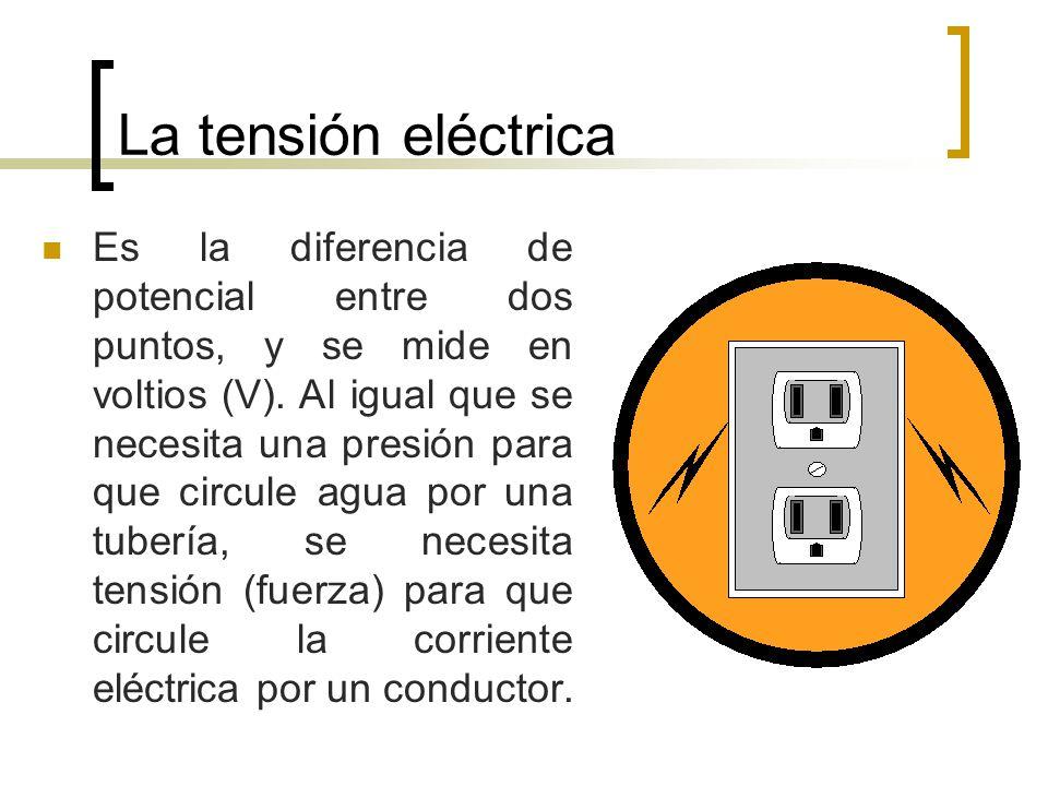 La tensión eléctrica