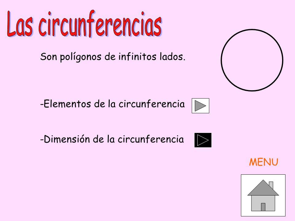 Las circunferencias Son polígonos de infinitos lados.