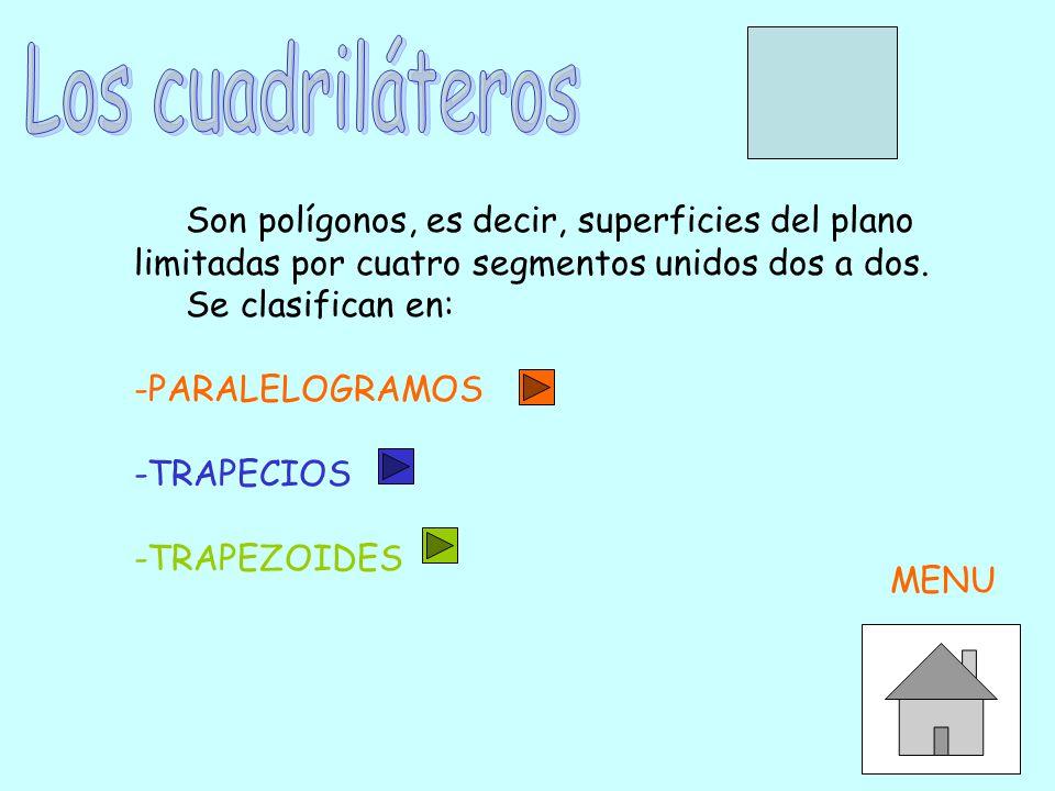 Los cuadriláteros Son polígonos, es decir, superficies del plano