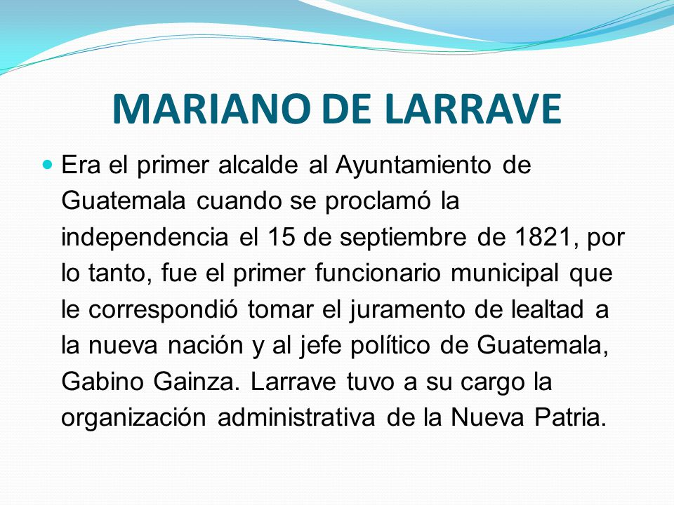 MARIANO DE LARRAVE