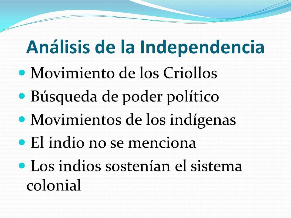 Análisis de la Independencia