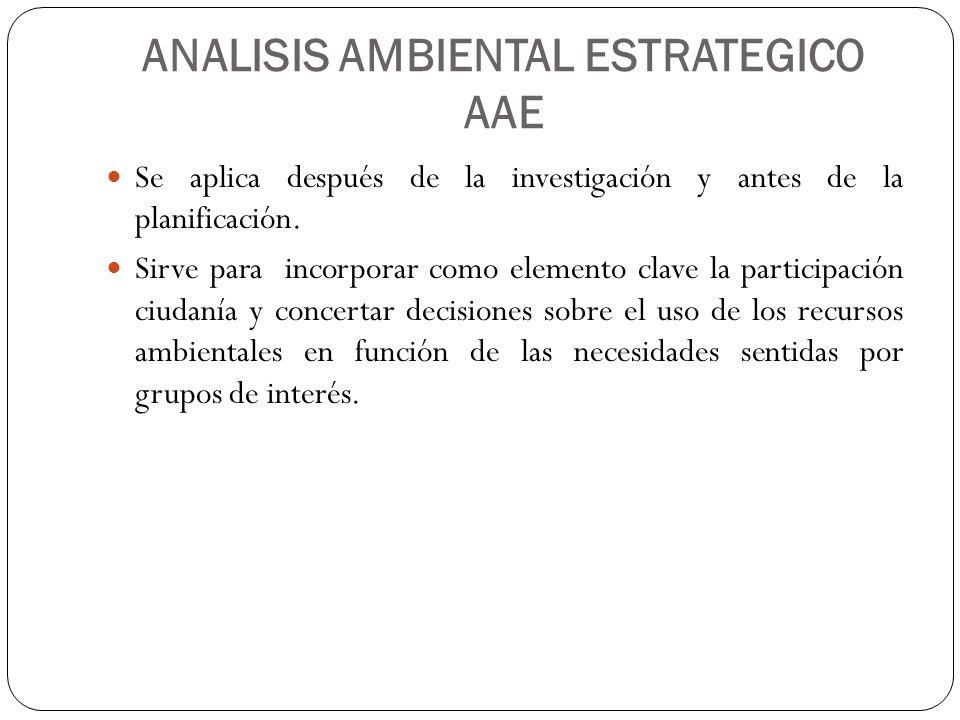 ANALISIS AMBIENTAL ESTRATEGICO AAE