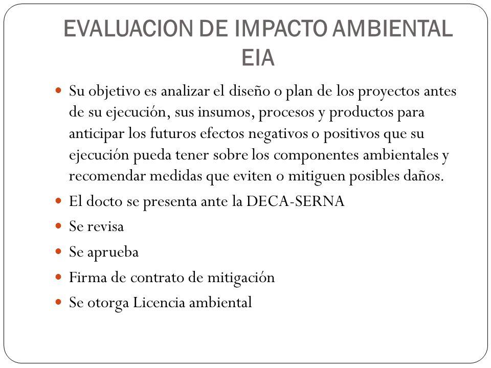 EVALUACION DE IMPACTO AMBIENTAL EIA