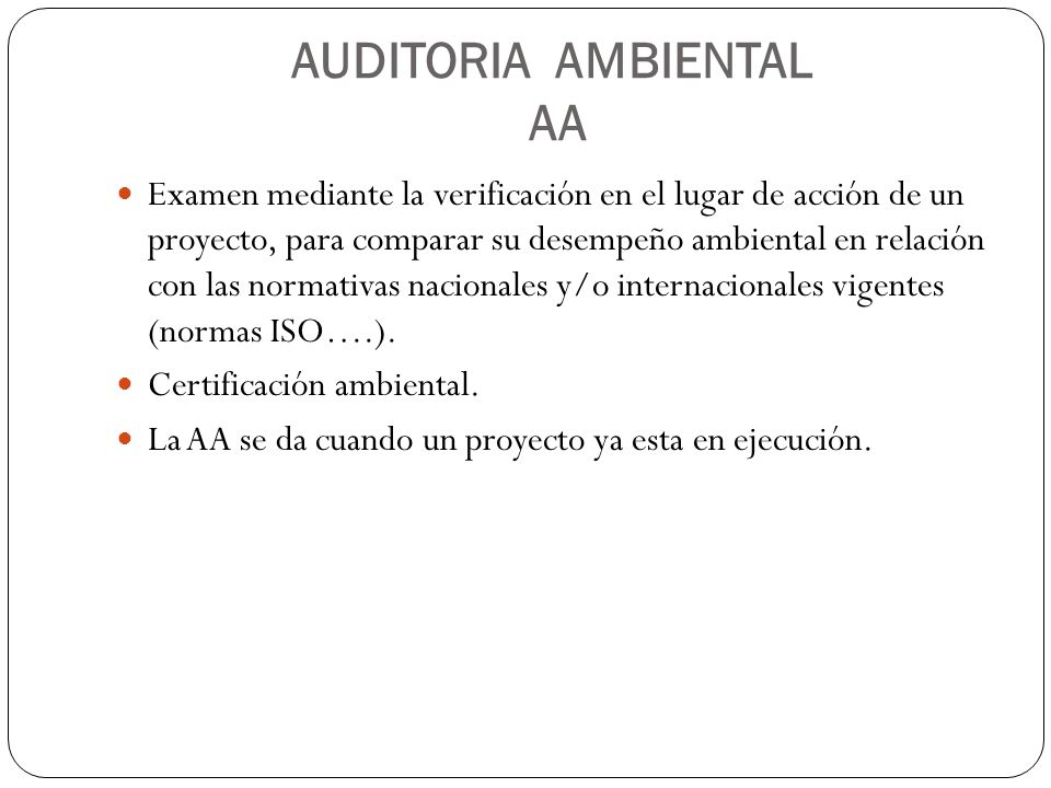 AUDITORIA AMBIENTAL AA