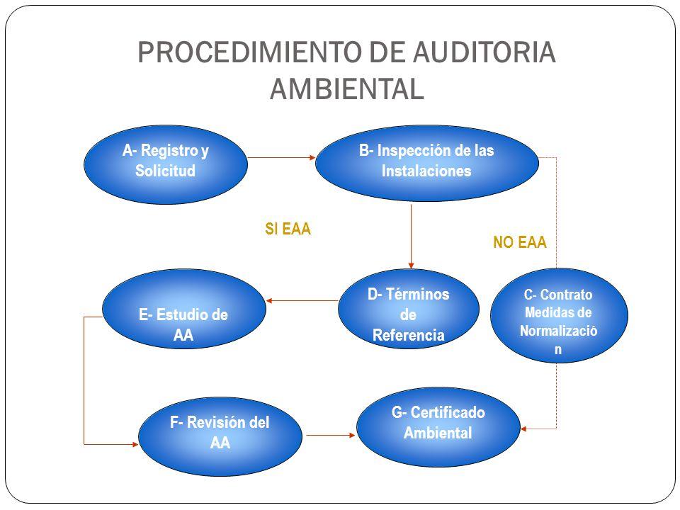 PROCEDIMIENTO DE AUDITORIA AMBIENTAL