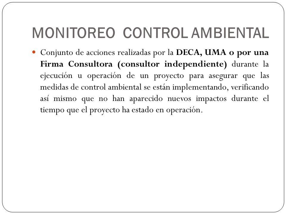 MONITOREO CONTROL AMBIENTAL