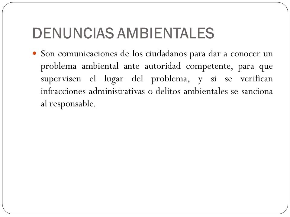 DENUNCIAS AMBIENTALES