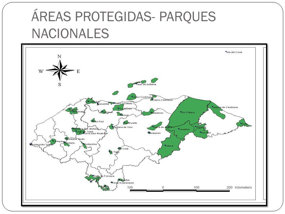 ÁREAS PROTEGIDAS- PARQUES NACIONALES