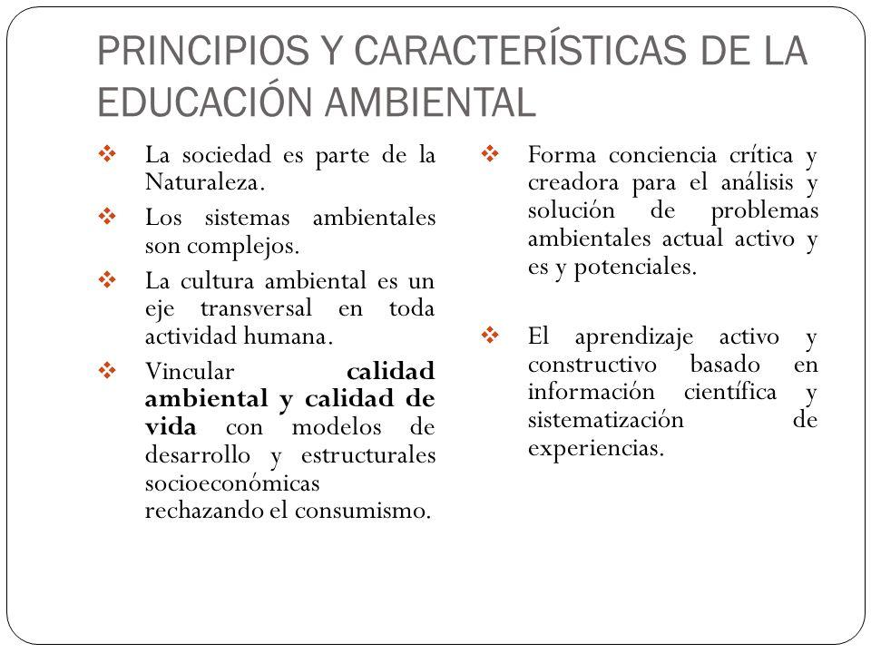 PRINCIPIOS Y CARACTERÍSTICAS DE LA EDUCACIÓN AMBIENTAL