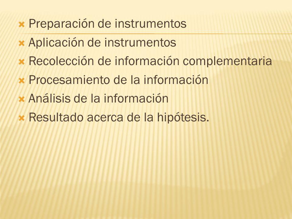 Preparación de instrumentos
