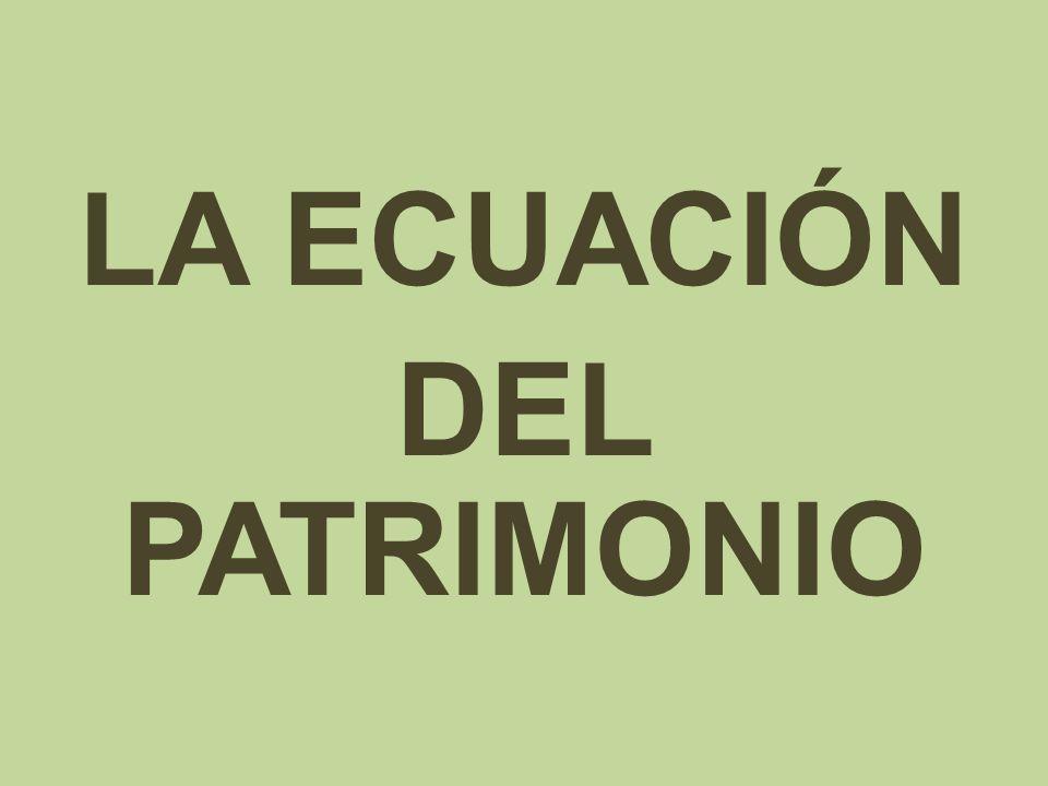 LA ECUACIÓN DEL PATRIMONIO