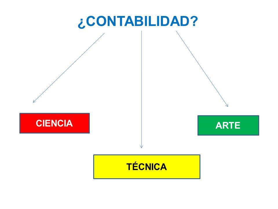 ¿CONTABILIDAD CIENCIA ARTE TÉCNICA