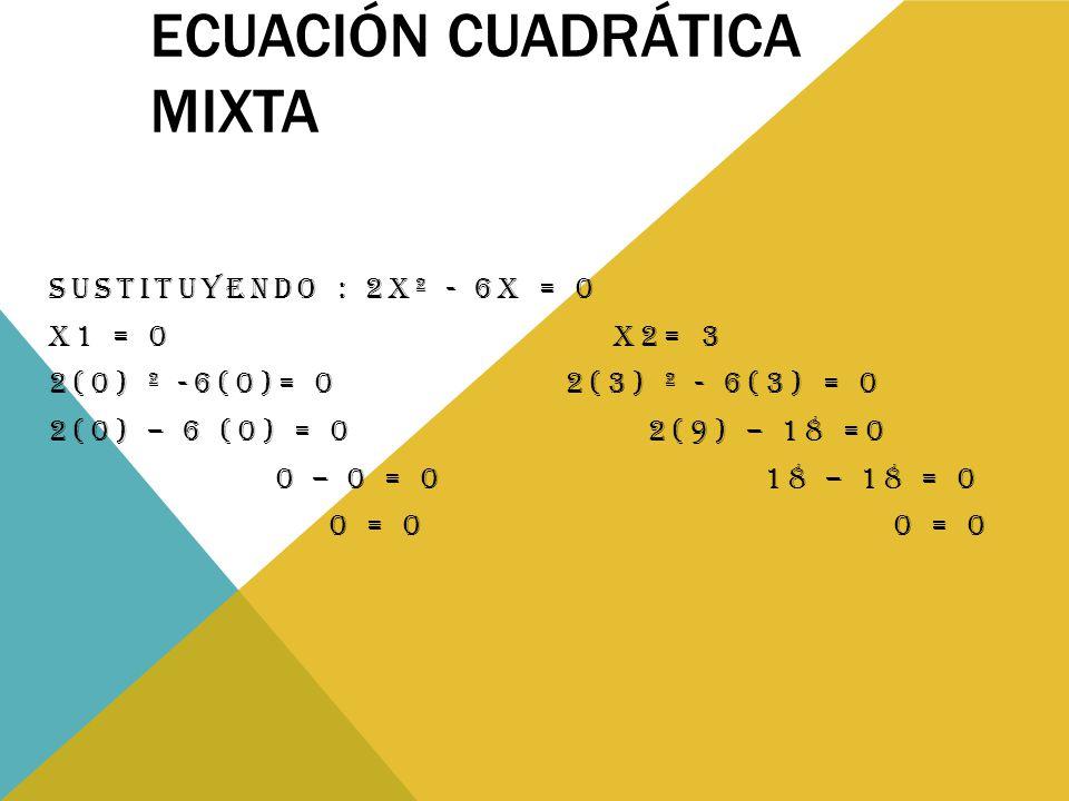 Ecuación cuadrática mixta