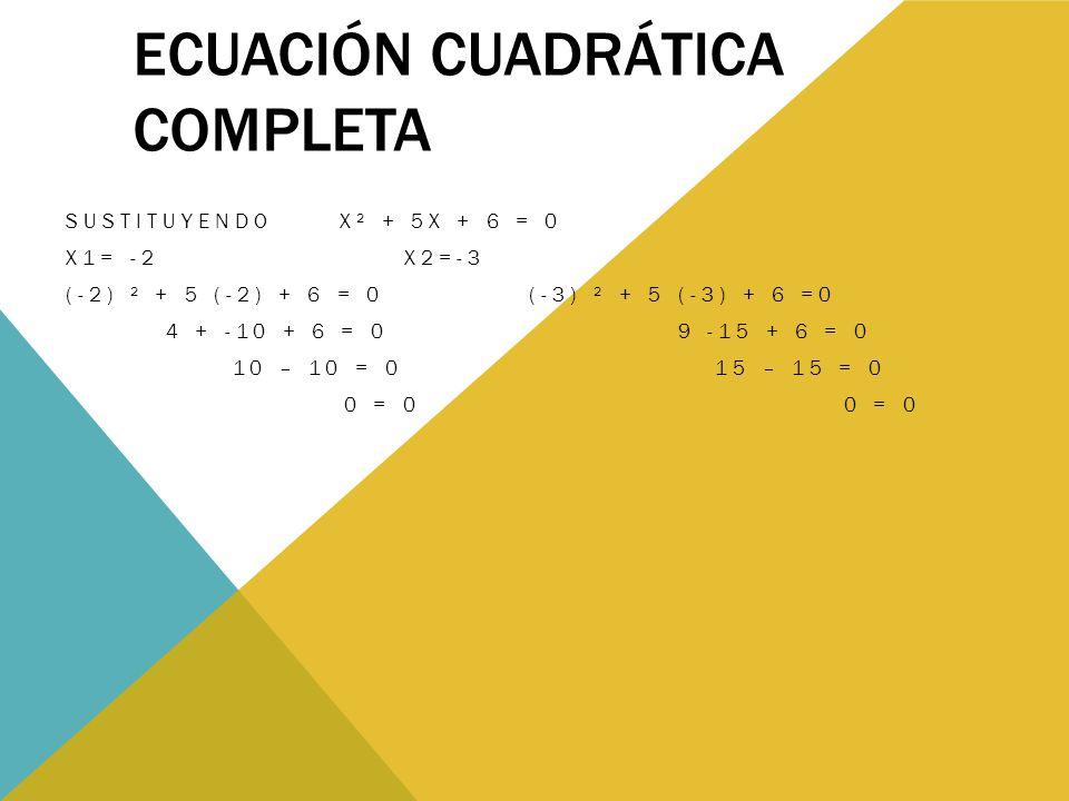 Ecuación cuadrática completa
