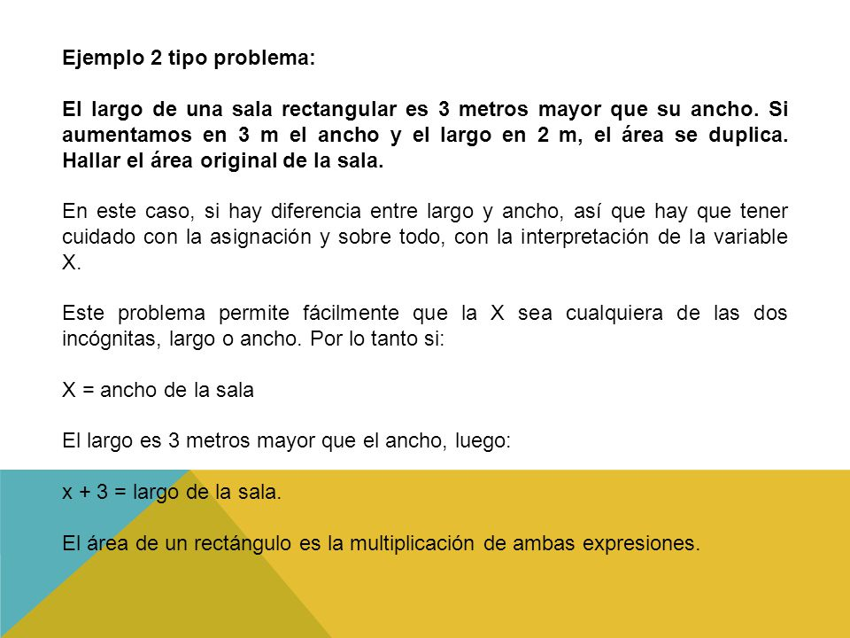 Ejemplo 2 tipo problema: