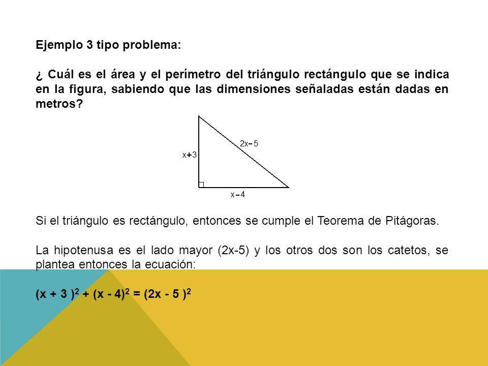 Ejemplo 3 tipo problema: