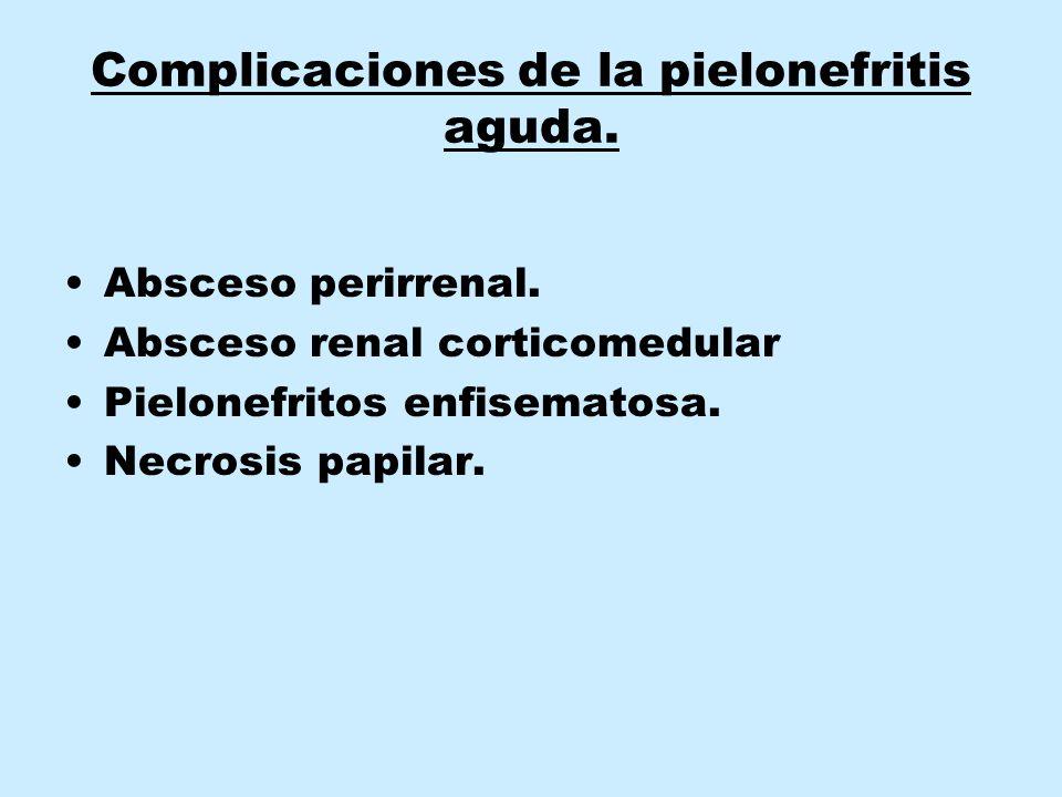 Complicaciones de la pielonefritis aguda.