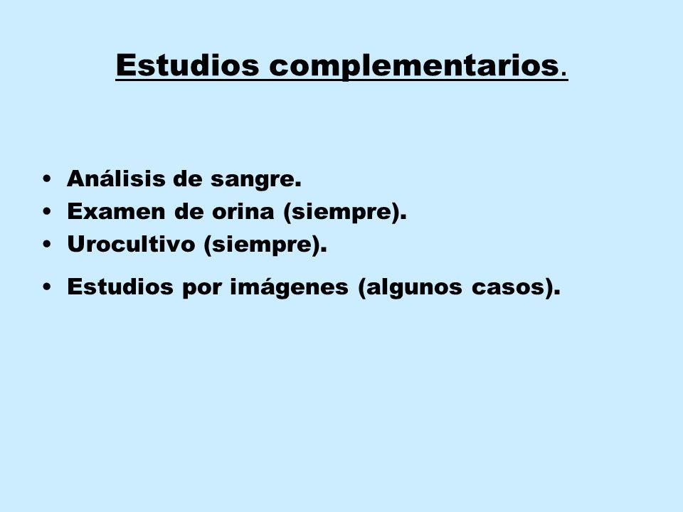 Estudios complementarios.
