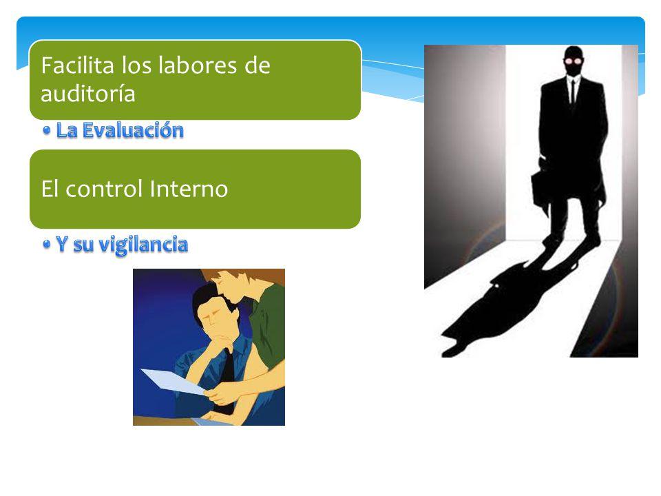 La Evaluación Y su vigilancia Facilita los labores de auditoría