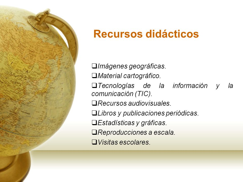 Recursos didácticos Imágenes geográficas. Material cartográfico.