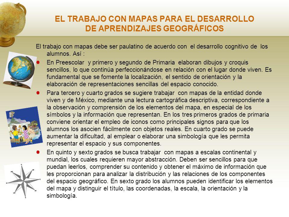 EL TRABAJO CON MAPAS PARA EL DESARROLLO DE APRENDIZAJES GEOGRÁFICOS