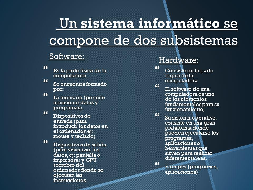 PLAN DE CLASE Nº 4 Tema: Informática: Software y Hardware ... - photo#32