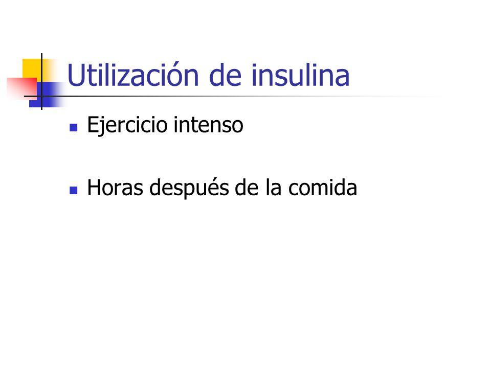 Utilización de insulina