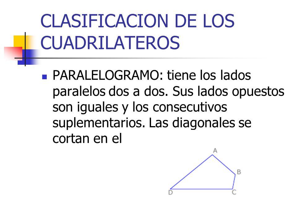 CLASIFICACION DE LOS CUADRILATEROS