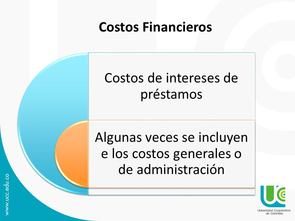 Costos de intereses de préstamos