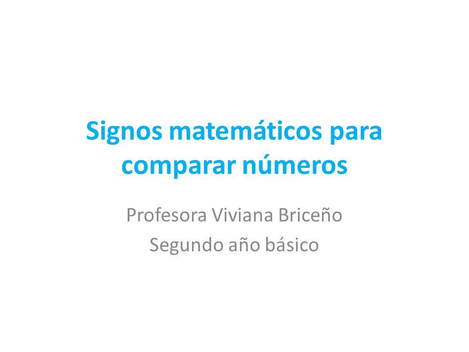 Signos matemáticos para comparar números
