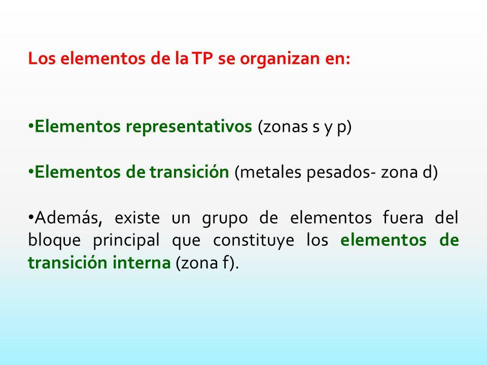 los elementos de la tp se organizan en - Metales Pesados Tabla Periodica Elementos