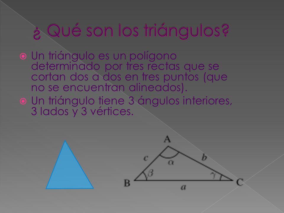 ¿ Qué son los triángulos