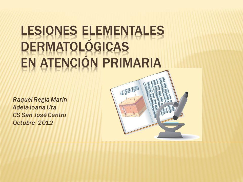 LESIONES ELEMENTALES DERMATOLÓGICAS EN ATENCIÓN PRIMARIA