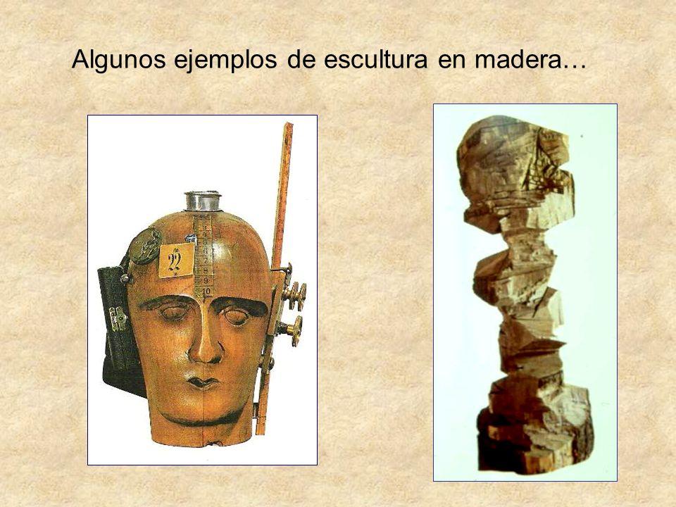 Algunos ejemplos de escultura en madera…