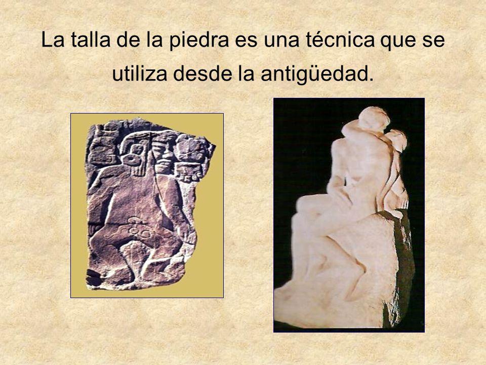 La talla de la piedra es una técnica que se utiliza desde la antigüedad.