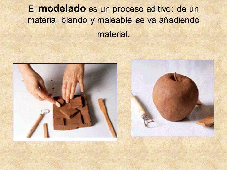 El modelado es un proceso aditivo: de un material blando y maleable se va añadiendo material.
