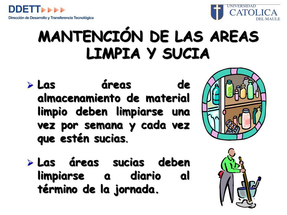 MANTENCIÓN DE LAS AREAS LIMPIA Y SUCIA
