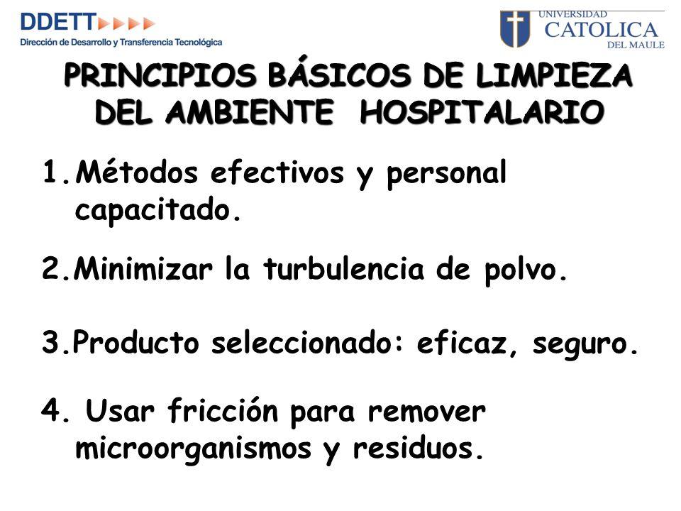 PRINCIPIOS BÁSICOS DE LIMPIEZA DEL AMBIENTE HOSPITALARIO
