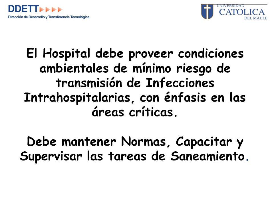 El Hospital debe proveer condiciones