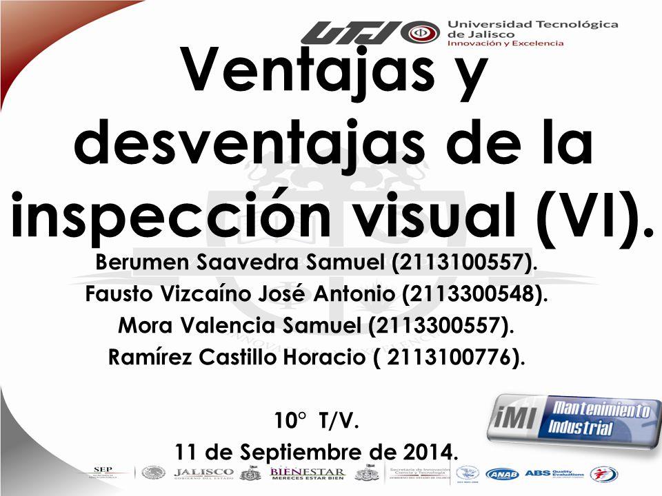 Ventajas y desventajas de la inspección visual (VI).